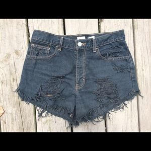 🌿Vintage Calvin Klein High Rise Distressed Shorts